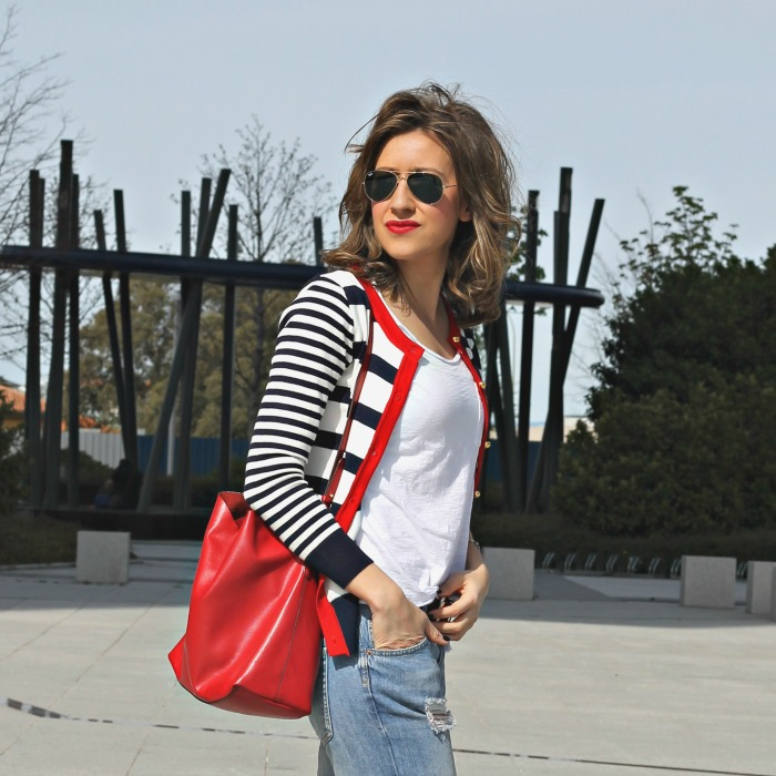 jersey de rayas look and chic