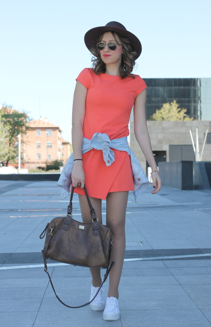 vestido rojo de zara look and chic