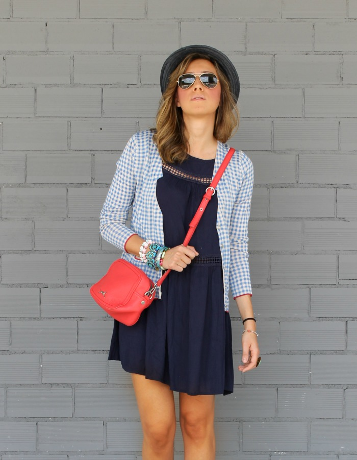 Vestido Azul Marino Corto Look And Chic