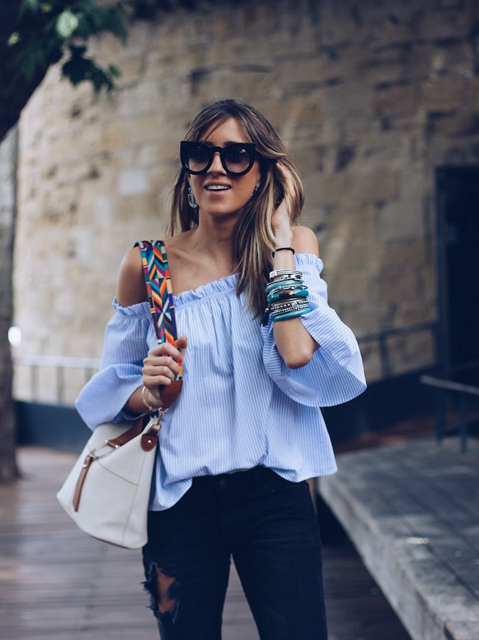 Cu00d3MO COMBINAR UNA BLUSA AZUL CIELO - Look And Chic