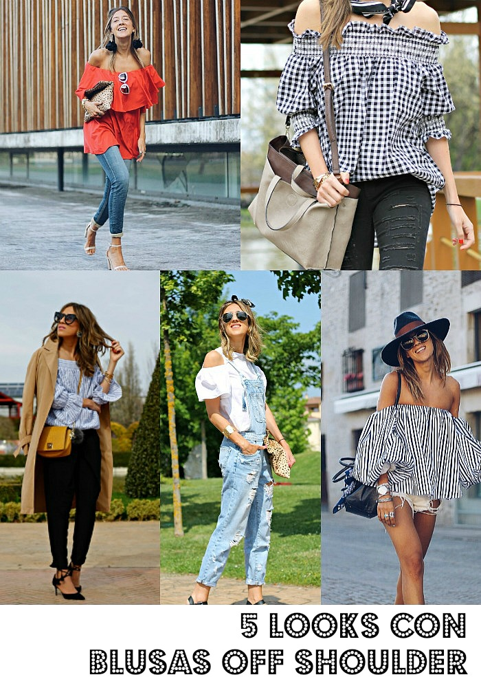 looks con blusas off shoulder