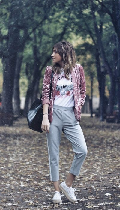 look sporty chic de otoño